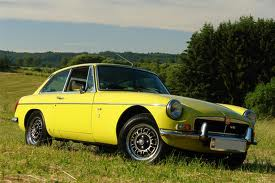 This is the car that goes over the cliff in the novel - an MGB.GT.